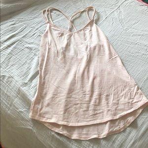 Lululemon Heathered Pink Striped Workout Tank 2/4